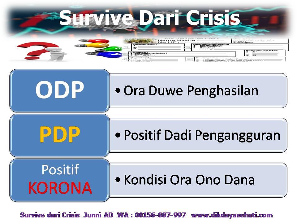 4 Kunci Survive Dari Crisis Coach H. Junni AD, S.Psi 08156-887-997 www.dikdayasehati.com (2)